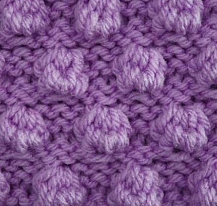 Free Bobble Knitting Stitch Pattern
