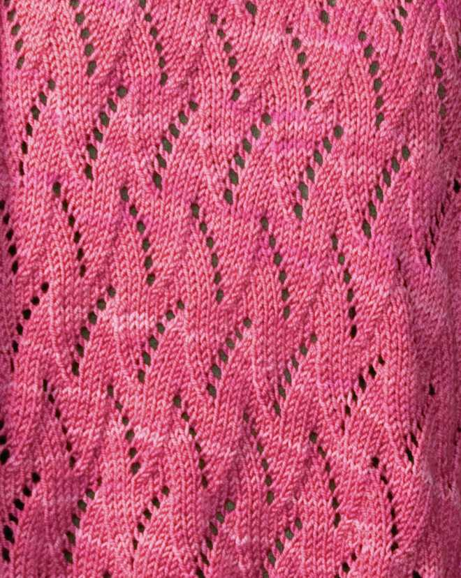 Free Flame Chevron Knitting Stitch