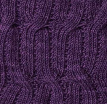 Reversible Lace and Cable Rib Knitting Stitches
