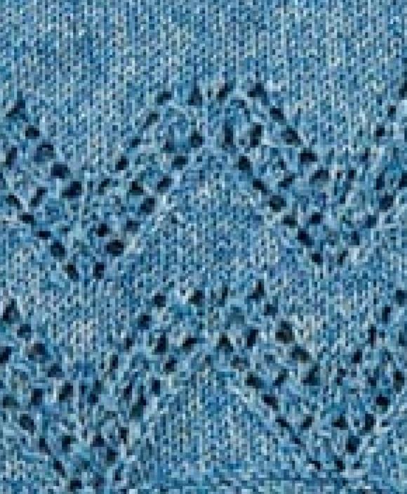 V Lace Chevron Knitting Stitch - Knitting Kingdom