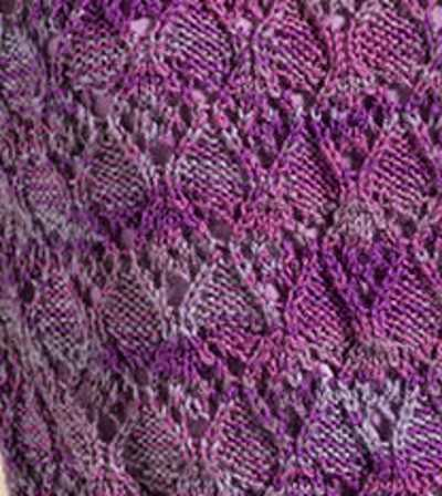 Wandering Lace Knitting Stitch