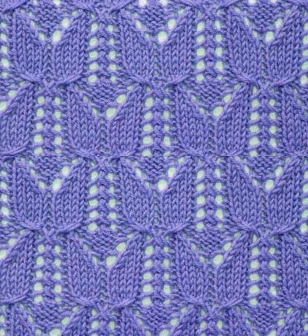 Free Tulip Lace Knitting Stitch