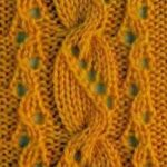 Lace and Cable Stitch Panel