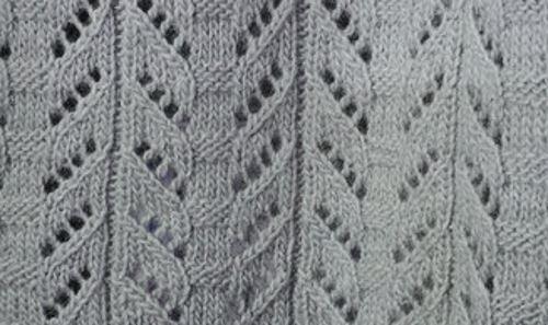 Stunning Eyelet Lace Free Knitting Stitch