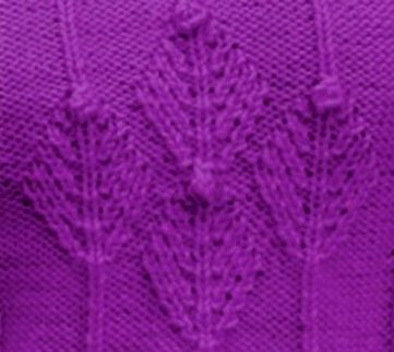 Fir Cluster Knitting Stitch