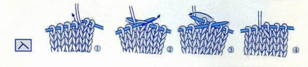 Japanese knitting symbol for ssk
