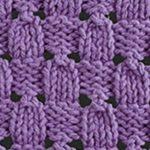 Acorn Eyelet and Lace Stitch Knitting