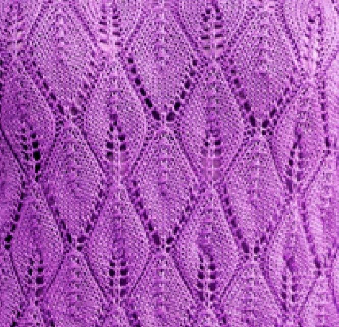 Leafy Lace Stitch Knitting Pattern Free