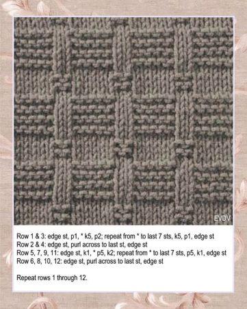 Free Knitting Stitch Stepping Stones