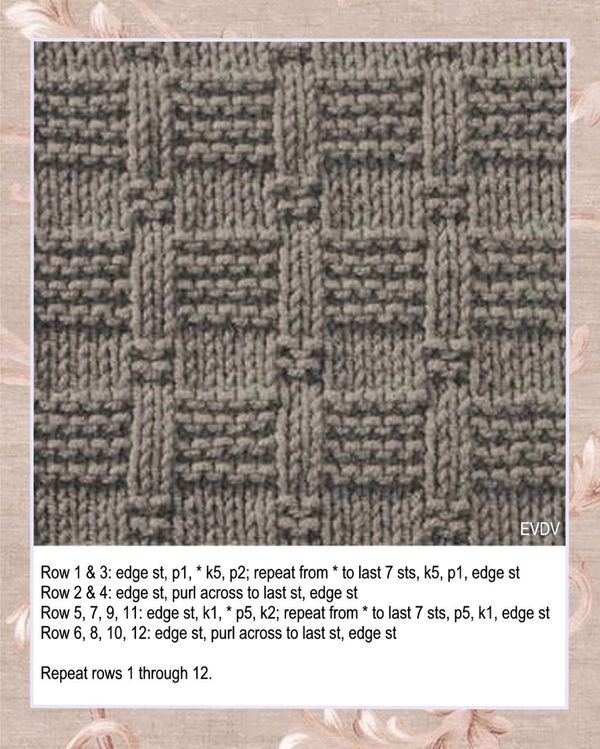 Free Knitting Stitch Stepping Stones