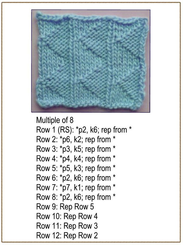 Knit and Purl Sideways Triangle Waves