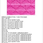 Knit and Purl Triangle Pattern Stitch