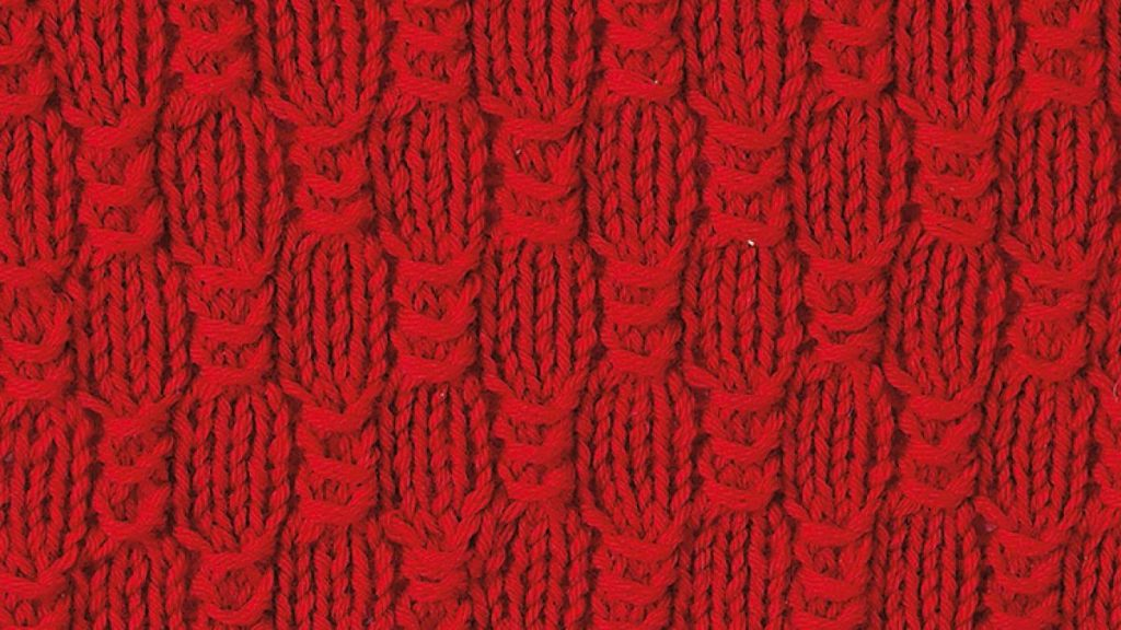 Free Knitting Stitch Busy Bees