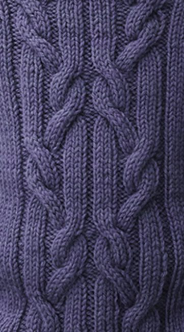 Rib Cable Twist Panel Knitting Stitch