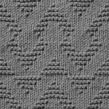 Triangles Free Knit and Purl Stitch Chart
