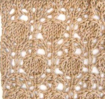 Cherry Stitch Lace Knitting Pattern