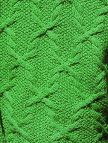 Continuous Cables and Moss Stitch