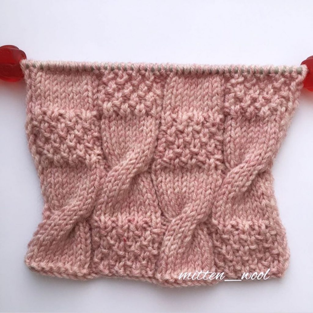 Easy Cables and Seed Stitch Free Knitting Stitch