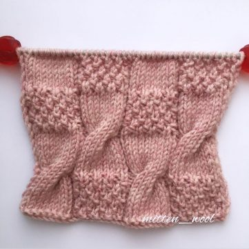 free knitting stitch for an easy cable and seed stitch pattern