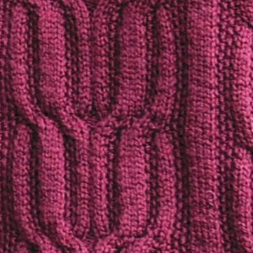 Free Knit Stitch for a Long Rib Cable