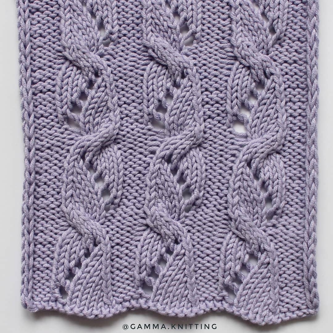 Free Cabled Lace Combination Knitting Stitch