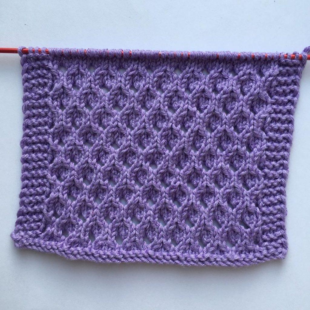 Free Knitting Stitch for an Eyelet Trellis