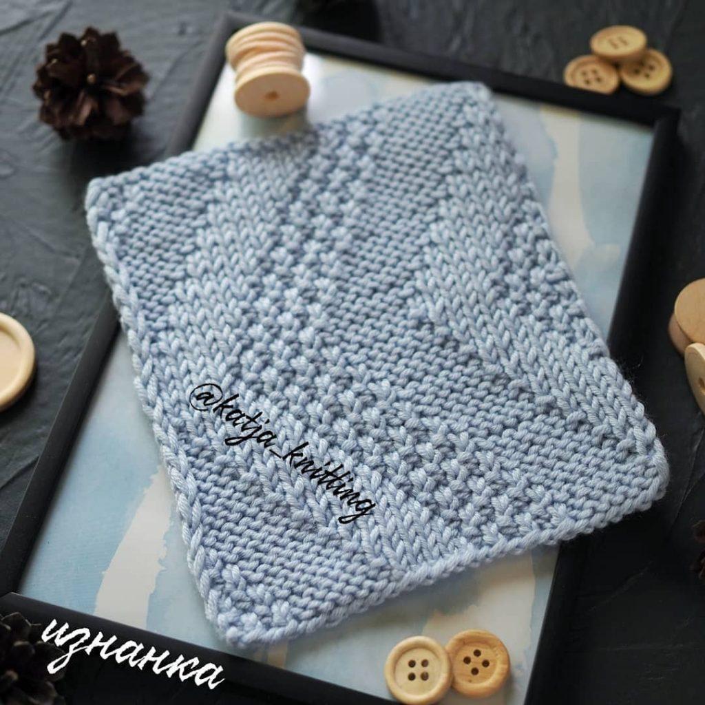 Knit Purl Right Arrow knitting stitch