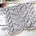 Lace leaf and braided cable panel knit stitch