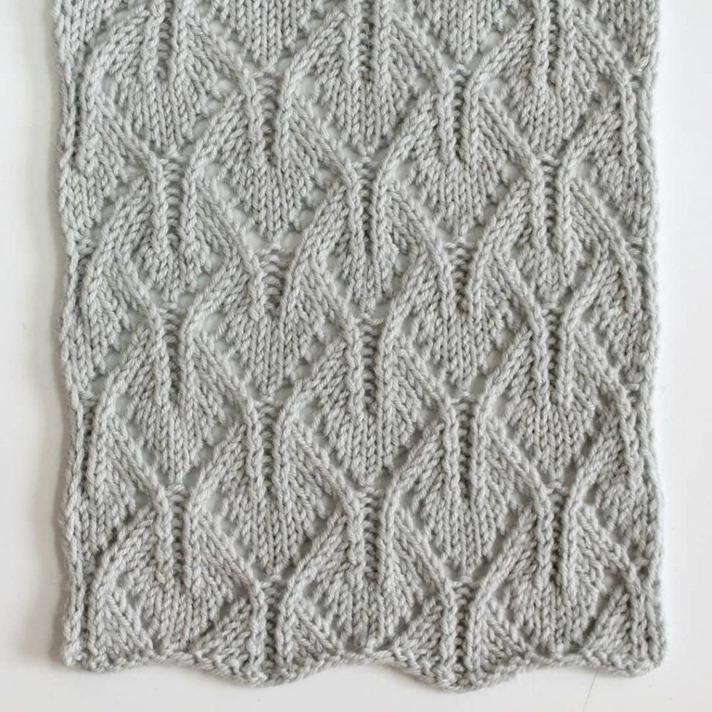 Spiky Arches Free Knitting Stitch