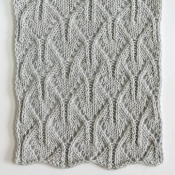 Spiky Arches Free Knitting Stitch