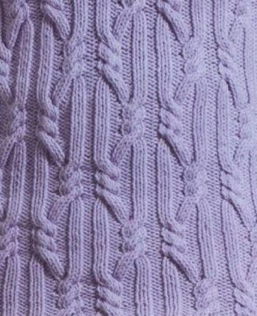 Cables and rope knitting stitch
