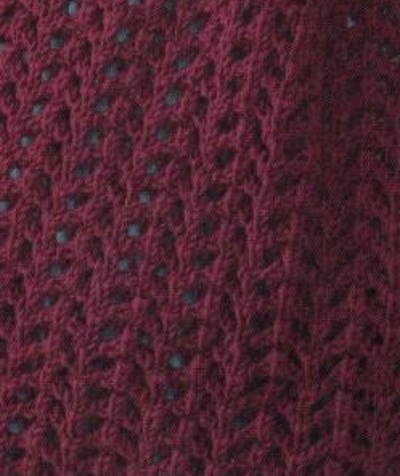 Lace Arrow Knitting Stitch