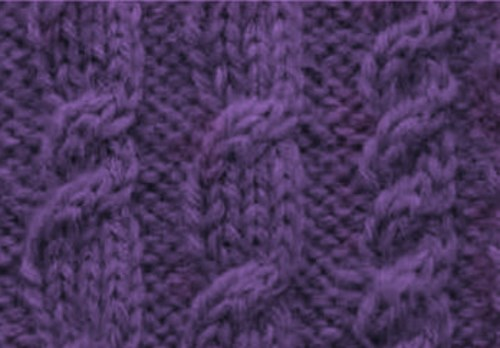 Rest rows cable knitting chart