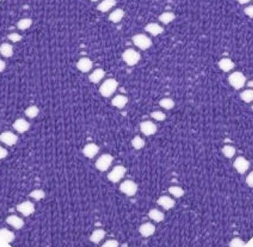 Vertical zig zag lace knitting stitch