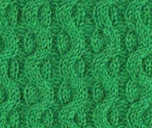 Wave Cable Knitting Stitch