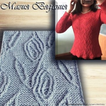 Trailing Vines Twist Stitch Knitting Pattern
