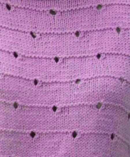 Perforated Eyelet Knitting Stitch