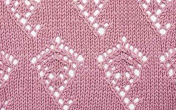 Knitting Stitch for a kite lace stitch